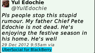 Yul Edochie - Pete Edochie,  My father is not dead