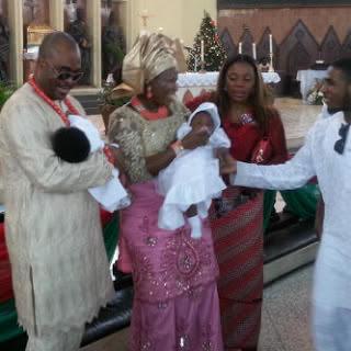 Emeka Ossai & Wife Dedicate Babies