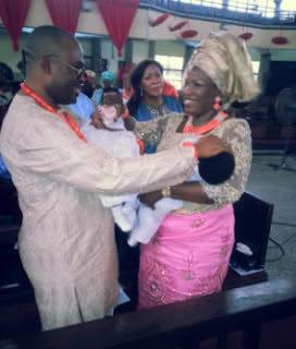 Emeka Ossai & Wife Dedicate Babies Yesterday
