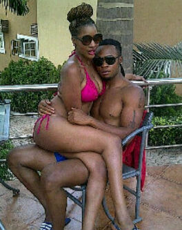 Flavour Nabania and his girlfriend in nothing but